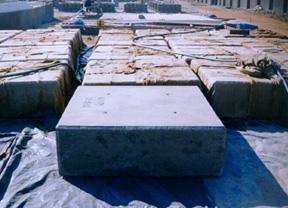 Perlite Concrete Blocks Curing