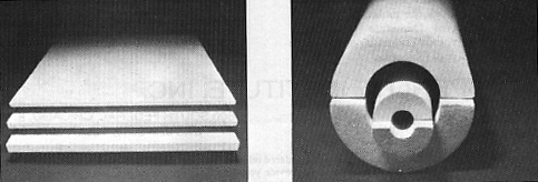 Both flat and rounded forms of socium silicate perlite insulation